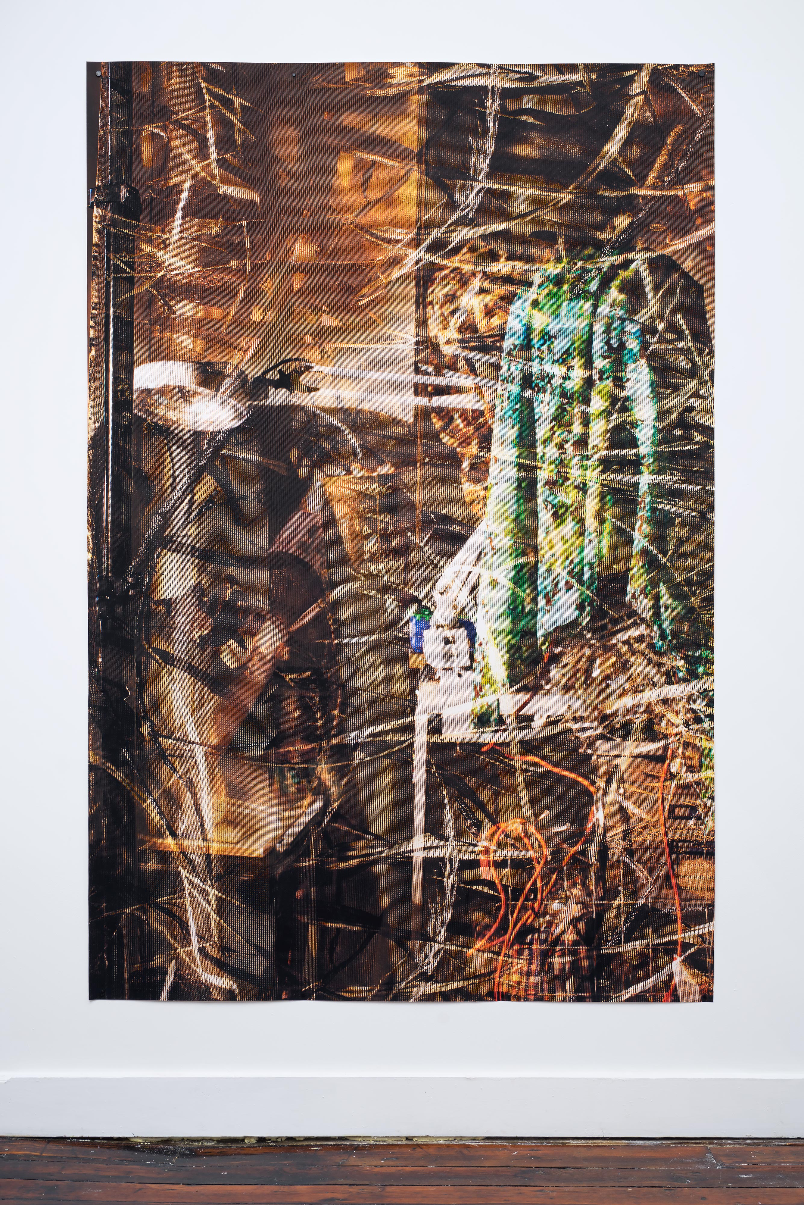 ELLEN BROOKS<br>Untitled (magnifying lamp)<br>2015<br>Digital pigment print<br>86 x 58 in (218 x147 cm)