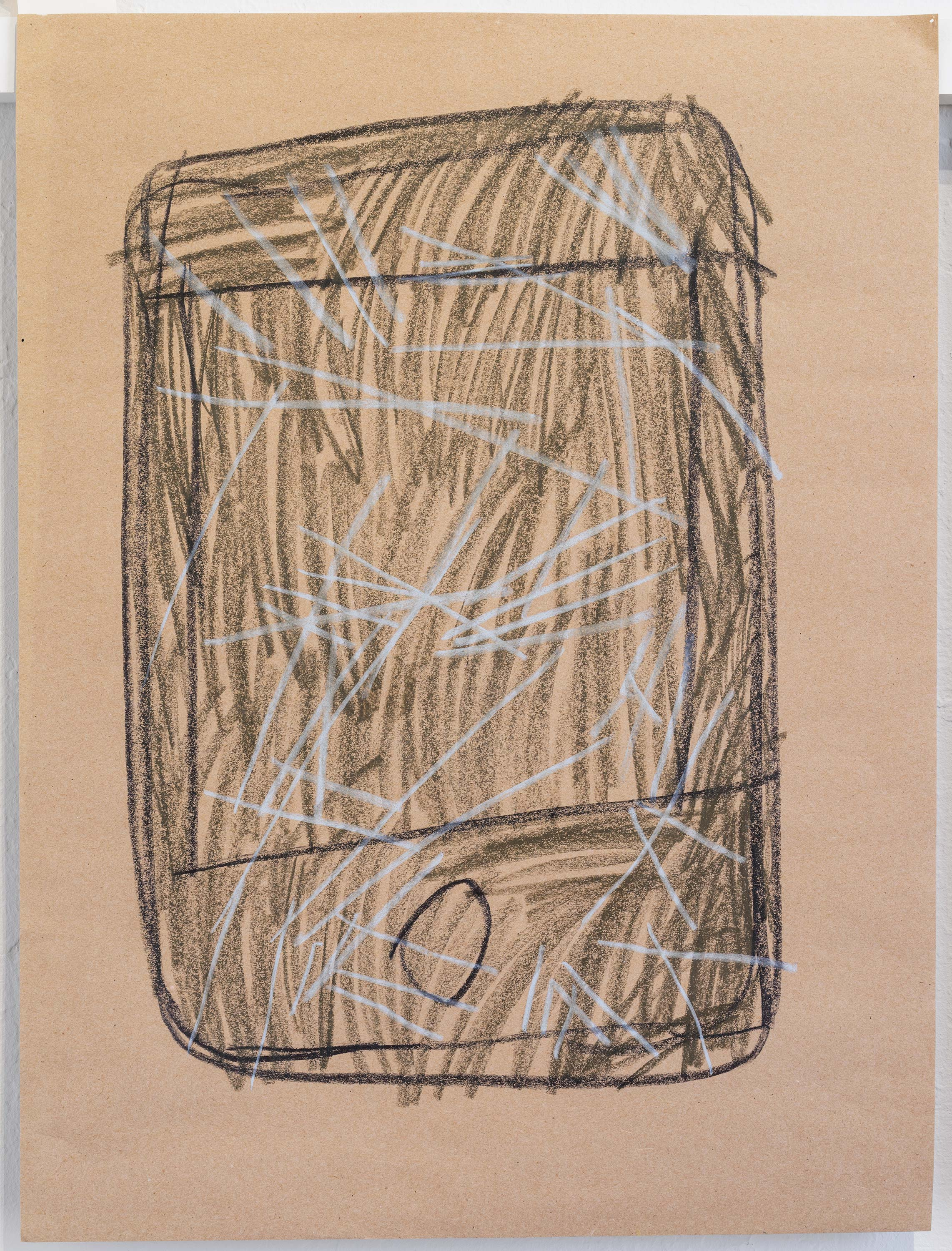Al Freeman<br>Broken phone 1<br>2015<br>Graphite and oil pastel on paper<br>18 x 24 inches (46 x 61 cm)