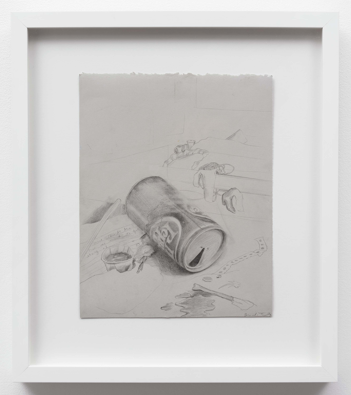 Brandi Twilley<br>Dr. Pepper<br>2014<br>Graphite on gray paper<br>9 x 11.25 inches (23 x 26.5 cm)