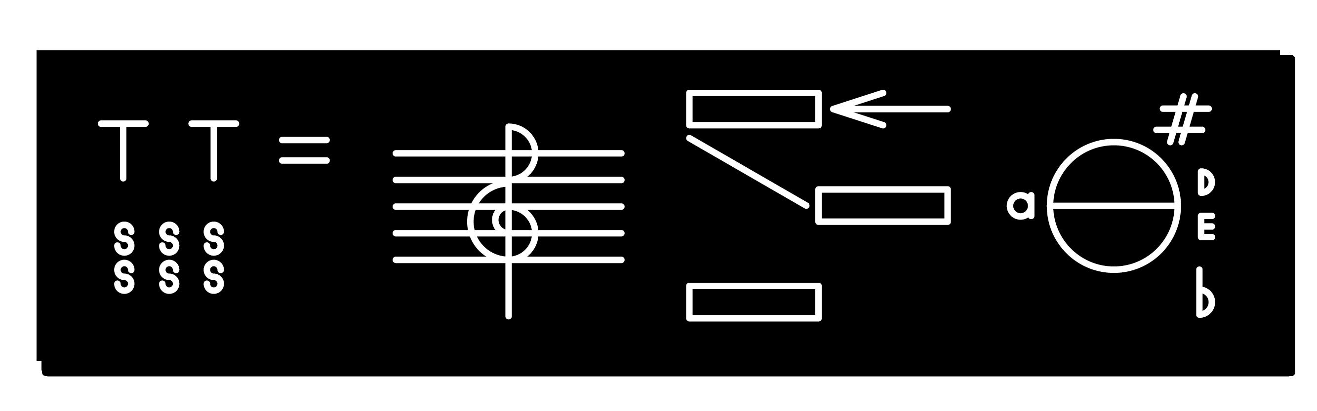 Dante Carlos, *Satanic Harmony (A♮ +  D ♯ / E ♭ )*, 2015. Engraved plastic, 2 x 8 inches (5 x 20.32 cm)