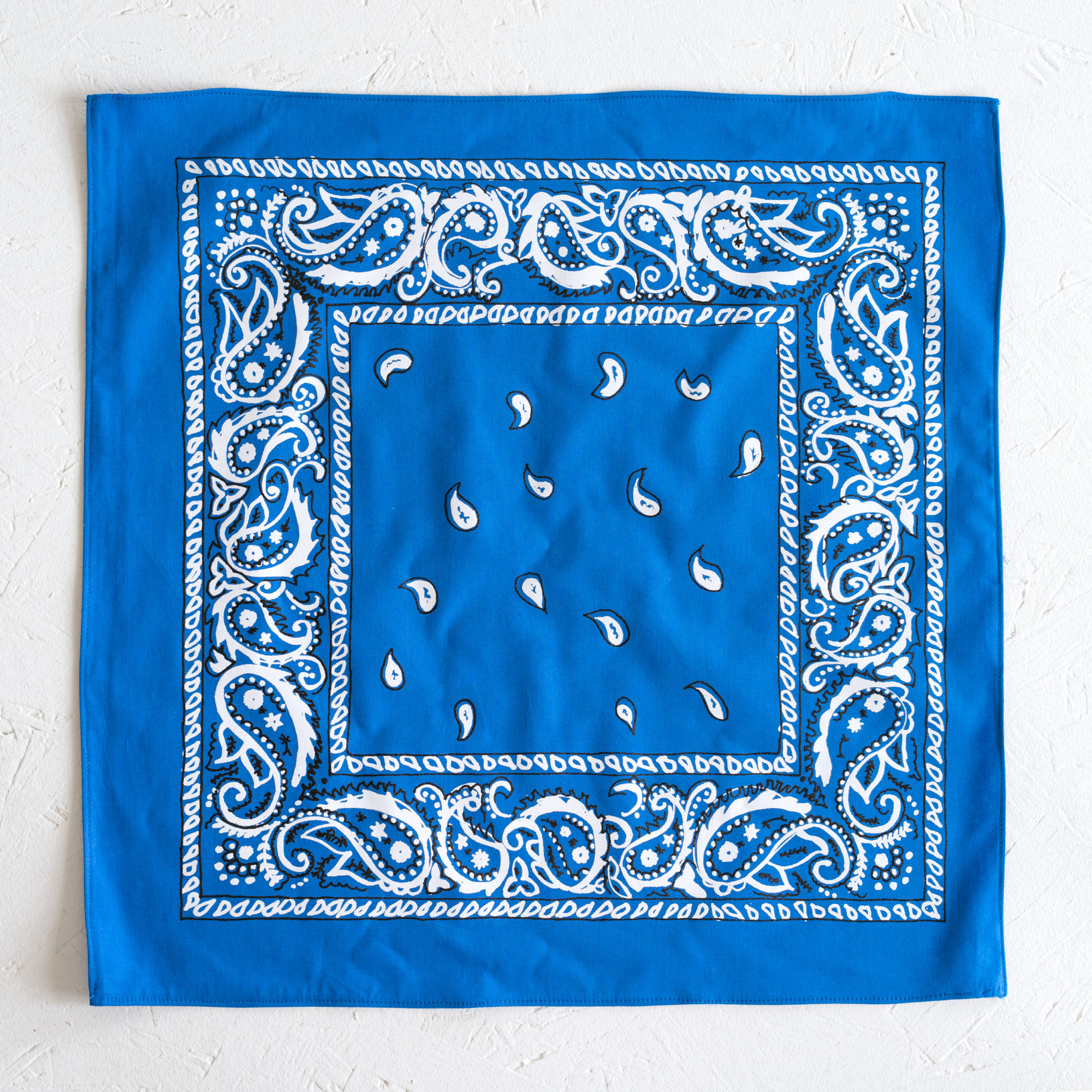 Nancy Davidson, *Hanky Code* (Medium Blue), 2016, Two color silkscreen on hand cut & sewn cotton, 17 x 17 inches (43.18 x 43.18 cm)