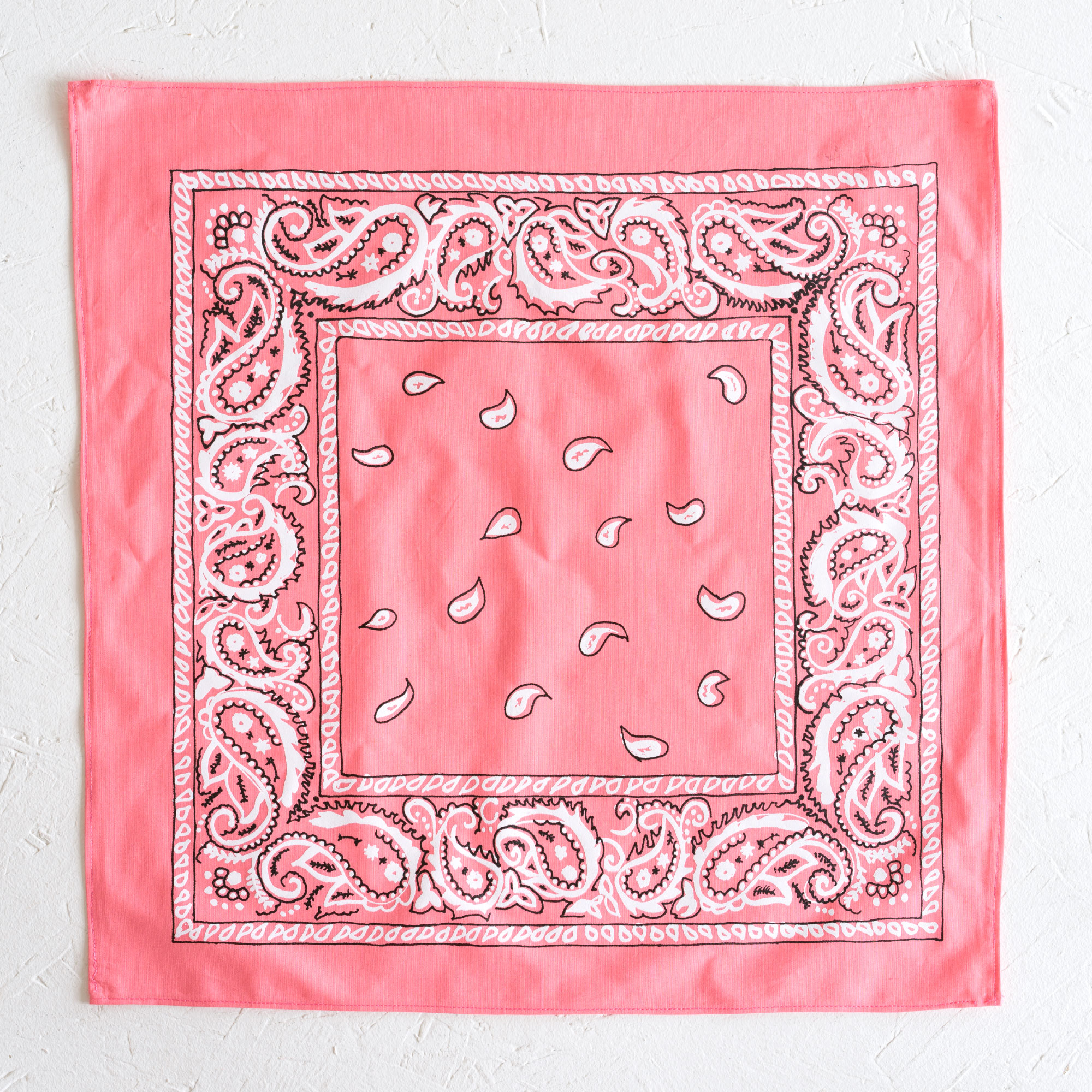 Nancy Davidson, *Hanky Code* (Light Pink), 2016, Two color silkscreen on hand cut & sewn cotton, 17 x 17 inches (43.18 x 43.18 cm)